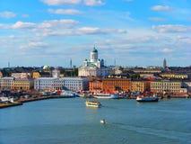 Panorama di Helsinki, Finlandia Fotografia Stock