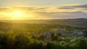 Panorama di Hexham Fotografie Stock Libere da Diritti