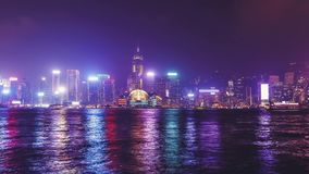 Panorama di Hong Kong stock footage
