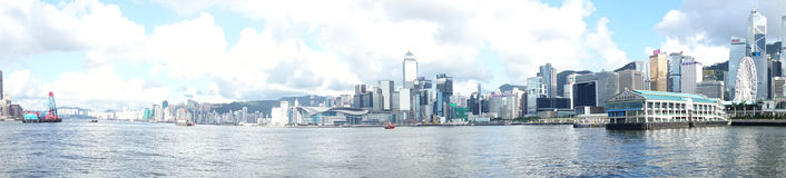 Panorama di Hong Kong Immagine Stock