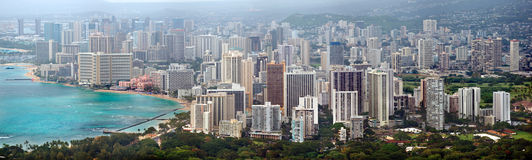 Panorama di Honolulu Fotografia Stock Libera da Diritti