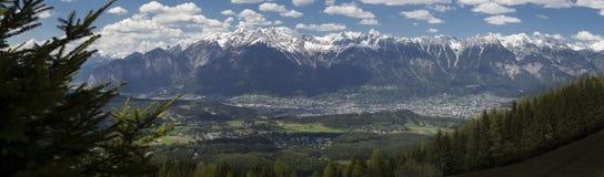 Panorama di Innsbruck, Tirolo Fotografia Stock Libera da Diritti