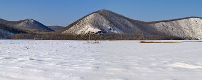 Panorama di inverno Immagine Stock Libera da Diritti