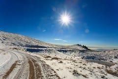 Panorama di inverno dalle alpi italiane Fotografie Stock Libere da Diritti