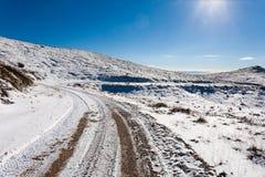 Panorama di inverno dalle alpi italiane Fotografia Stock Libera da Diritti