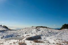 Panorama di inverno dalle alpi italiane Fotografia Stock