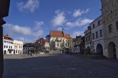Panorama di inverno di Kazimierz Dolny fotografie stock libere da diritti