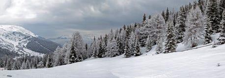 Panorama di inverno nel Tirolo Immagini Stock Libere da Diritti