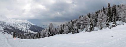 Panorama di inverno nel Tirolo Immagine Stock Libera da Diritti
