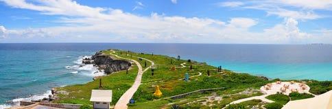 Panorama di Isla Mujeres, Messico Immagini Stock