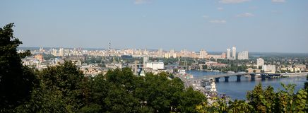 Panorama di Kiev Immagine Stock