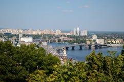 Panorama di Kiev Fotografie Stock