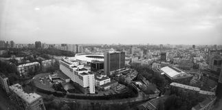 Panorama di Kiev dal Parus di TC Fotografia Stock Libera da Diritti