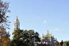 Panorama di Kiev Pechersk Lavra, Immagine Stock