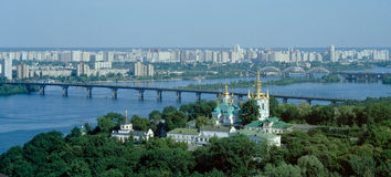 Panorama di Kiev-Pechersk Lavra Immagini Stock