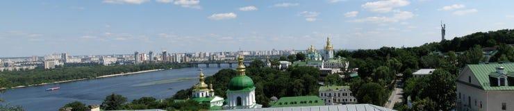 Panorama di Kiev-Pechersk Lavra Fotografie Stock Libere da Diritti
