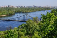 Panorama di Kiev, Ucraina. Immagini Stock Libere da Diritti
