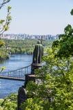 Panorama di Kiev, Ucraina. Fotografie Stock Libere da Diritti