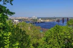 Panorama di Kiev, Ucraina. Fotografia Stock Libera da Diritti