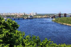 Panorama di Kiev, Ucraina. Immagini Stock