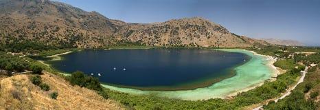 Panorama di Kourna del lago. Fotografia Stock Libera da Diritti