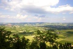 Panorama di Langhe Fotografia Stock