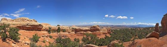 Panorama di Lanscape nel parco nazionale di arché Immagini Stock