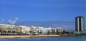 Panorama di Lanzarote capitale, Arrecife, Fotografia Stock Libera da Diritti