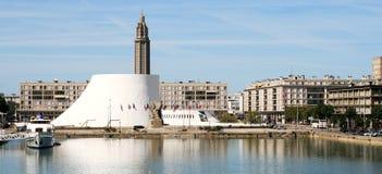 Panorama di le Havre: il vulcano immagine stock libera da diritti