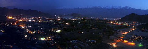 Panorama di Leh Fotografie Stock Libere da Diritti