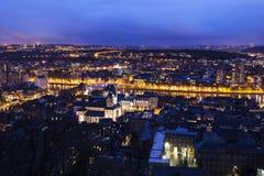 Panorama di Liegi Fotografia Stock