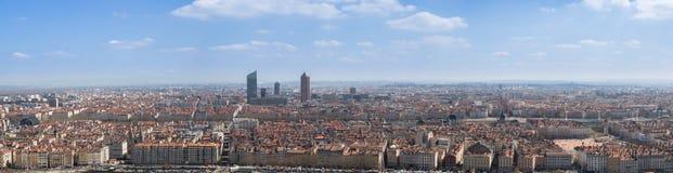 Panorama di Lione Fotografia Stock Libera da Diritti
