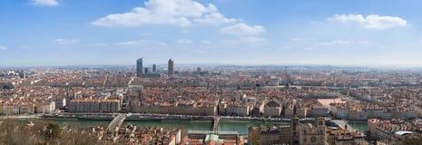 Panorama di Lione Immagine Stock