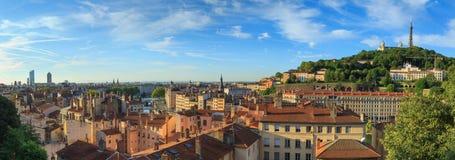 Panorama di Lione Fotografia Stock