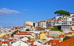 Panorama di Lisbona Fotografia Stock Libera da Diritti