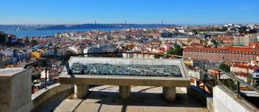 Panorama di Lisbona, Portogallo Fotografia Stock