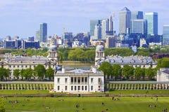 Panorama di Londra da Greenwich fotografia stock