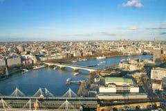 Panorama di Londra dall'occhio di Londra Fotografie Stock Libere da Diritti