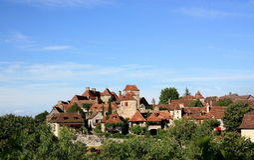 Panorama di Loubressac Immagine Stock Libera da Diritti