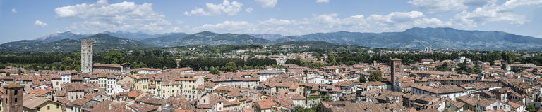Panorama di Lucca Fotografie Stock