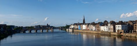 Panorama di Maastricht, Paesi Bassi Fotografia Stock Libera da Diritti