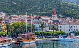 Panorama di Makarska Fotografia Stock
