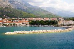 Panorama di Makarska Riviera Immagini Stock