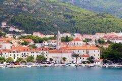 Panorama di Makarska Riviera Fotografia Stock