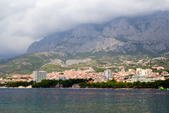 Panorama di Makarska Riviera Fotografia Stock Libera da Diritti