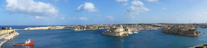 Panorama di Malta fotografia stock