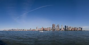 Panorama di Manhattan immagine stock