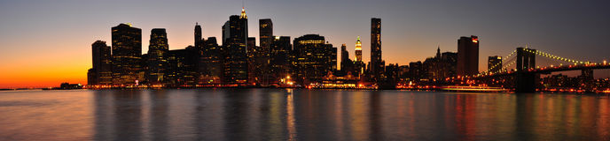 Panorama di Manhattan. New York City fotografia stock libera da diritti