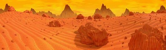 Panorama di Marte Fotografie Stock