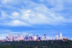 Panorama di mattina di Edmonton fotografie stock libere da diritti